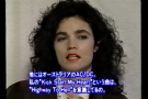 Alannah Miles interview in Japan 11/28/1990(MTV)
