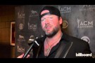 Lee Brice backstage at the ACM Awards 2014